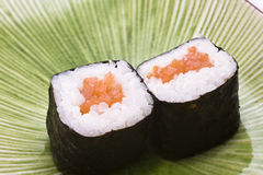 Japanese sushi on a plate Royalty Free Stock Image