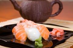 Japanese sushi plate Royalty Free Stock Photo