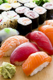 Japanese Sushi on Plate Stock Photo