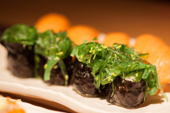 Japanese sushi on the plate Stock Photography