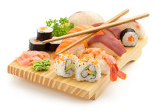 Japanese sushi plate Royalty Free Stock Image