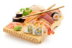 Japanese sushi plate Royalty Free Stock Image