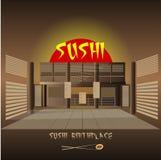 Japanese sushi restaurant interior design Royalty Free Stock Photography