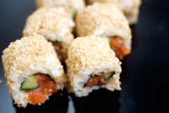 Japanese sushi roll Alaska Royalty Free Stock Images