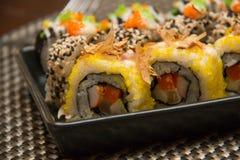 Japanese sushi roll Royalty Free Stock Image