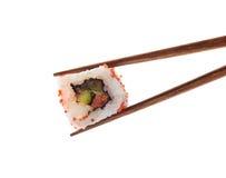 Japanese sushi roll isolated on white background Royalty Free Stock Images