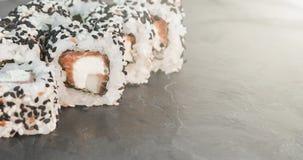 Japanese sushi roll philadelphia Royalty Free Stock Photos