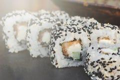 Japanese sushi roll philadelphia Royalty Free Stock Image