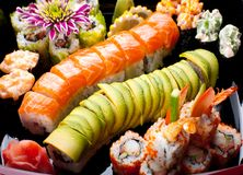 Japanese Sushi Rolls. Royalty Free Stock Image