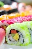 Japanese sushi rolls Royalty Free Stock Images