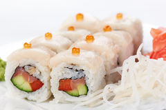Japanese sushi rolls. Stock Photography