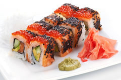 Japanese sushi rolls. Royalty Free Stock Photography