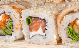 Japanese Sushi rolls Royalty Free Stock Photo