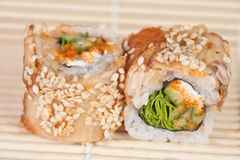 Japanese Sushi rolls Stock Images