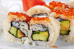Japanese sushi rolls Royalty Free Stock Photography