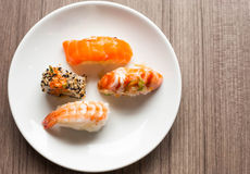 Japanese Sushi and Rolls Royalty Free Stock Photography