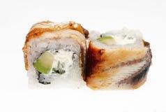 Japanese sushi rolls. Japanese sushi rolls isolated on white background Stock Image