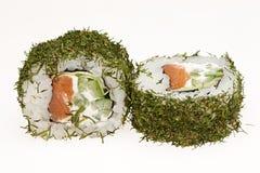Japanese sushi rolls. Japanese sushi rolls isolated on white background Stock Photo