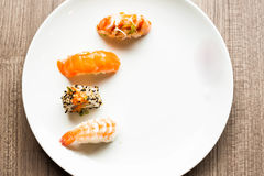 Japanese Sushi and Rolls Stock Photography