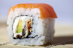 Japanese sushi with salmon Royalty Free Stock Photos