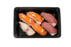 Japanese sushi seafood Royalty Free Stock Images