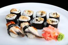 Japanese sushi set Stock Images