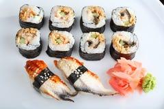 Japanese sushi set Royalty Free Stock Image