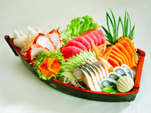 Japanese seafood sushi set isolated  Stock Photo