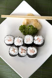 Japanese sushi set. On top view Stock Photography