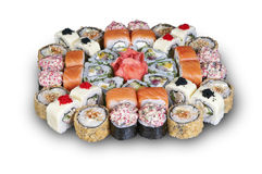 Japanese sushi. set. Food depicted in picture specially prepared for this photo shoot Royalty Free Stock Images
