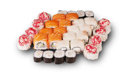 Japanese sushi. set. Food depicted in picture specially prepared for this photo shoot Royalty Free Stock Photography