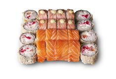 Japanese sushi. set. Food depicted in picture specially prepared for this photo shoot Stock Photography