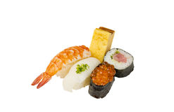 Japanese sushi set. Isolated on white background Stock Photography