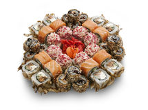 Japanese sushi set. Photo taken at the personal studio of the photographer Royalty Free Stock Images
