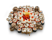 Japanese sushi set. Photo taken at the personal studio of the photographer Stock Images