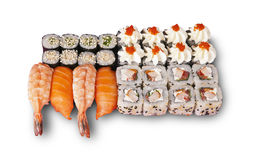 Japanese sushi set. The picture was taken in a personal studio photographer Stock Photo