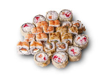 Japanese sushi set. The picture was taken in a personal studio photographer Stock Images