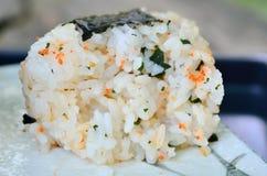 Japanese sushi set with soup Royalty Free Stock Image