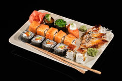 Japanese Sushi On A Table Stock Photography