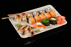 Japanese Sushi On A Table Royalty Free Stock Photo