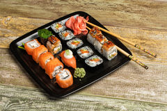 Japanese Sushi On A Table Stock Images