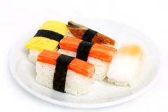Japanese sushi traditional food Stock Image