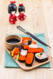 Japanese sushi traditional food. Royalty Free Stock Photos