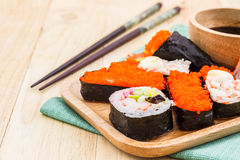 Japanese sushi traditional food. Royalty Free Stock Images