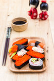 Japanese sushi traditional food. Royalty Free Stock Image