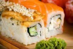 Japanese sushi traditional Japanese food Royalty Free Stock Images