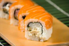 Japanese sushi traditional Japanese food Royalty Free Stock Photography