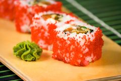 Japanese sushi traditional Japanese food Stock Photo