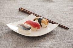 Japanese Sushi -- Tuna, Eel, Swordfish. Japanese Sushi --- Tuna, Eel, Swordfish Stock Photo
