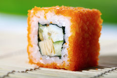 Japanese Sushi With Avocado And Caviar Royalty Free Stock Images